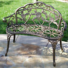 "NEW 39"" Antiquated Design Style Patio Porch Garden Bench Cast Aluminum Outdoor Home"