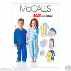 McCall's 6224 Sewing Pattern to MAKE Childrens' Pyjama Separates & Sleepsuit
