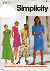 Simplicity 7592 Misses Dress Sewing Pattern ~ Size 16 18 20