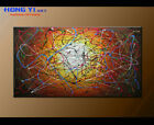 Modern Original Abstract oil Painitng On Canvas Wall Art Flow Colorful Framed