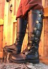 Внешний вид - Black Medieval Knight Renaissance Faire Game of Thrones Costume Mens Boots New