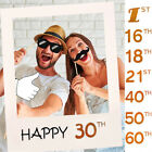 1st 30th 35th 40th 50th 60th Paper Photo Frame Adlut Kids Birthday Party Decor
