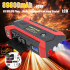 89800mAh LED Lamp 4 USB Car Jump Starter Pack Booster Charger Battery Power Bank