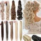 """18-27"""" New Long Claw Ponytail Clip in Hair Extensions Curly Straight Wedding F5T"""