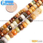 """Natural Nephrite Hua Show Jade Faceted Rondelle Spacer Beads Free Shipping 15"""""""