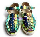 Real Leather Summer Mens Fashion Roman Sandals Beach Ankle Buckle Shoes us sz