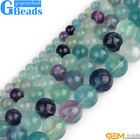 "Natural Stone Rainbow Fluorite Gemstone Round Beads Free Shipping 15""4mm 6mm 8mm"