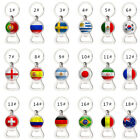 2018 World Cup Football Beer Bottle Opener Keychain with Flag Soccer Fans Decor