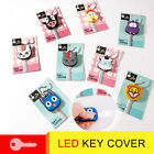LED Light PVC Silicone Key Ring Cap Head Cover Keychain Case Shell Animals Newly