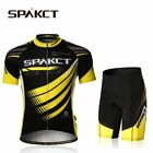 Spakct Cycling Jersey Suits  Short Sleeve Short & Tights  Pants Yellow  Black