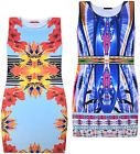 Ladies New Scuba Sleeveless Midi Womens Stretch Party Summer Holiday Sun Dress