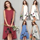 Fashion Women Casual Sleeveless Dress Ink Painting Party Cocktails Prom Dress