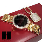 Hip Hop Smart Watch Iced Out Digital Touch Screen Gold PT Lab Diamond Watch G208 image
