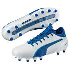 New PUMA Evotouch 2 FG Mens Genuine Leather Soccer Cleats - White / Blue