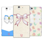 HEAD CASE DESIGNS GLASS RIBBONS HARD BACK CASE FOR SONY PHONES 3