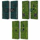 HEAD CASE DESIGNS CIRCUIT BOARDS LEATHER BOOK WALLET CASE FOR SONY PHONES 1