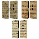 HEAD CASE DESIGNS MUSIC SHEETS LEATHER BOOK WALLET CASE COVER FOR SONY PHONES 1