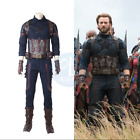 2018 The Avengers 3 Captain America Men Halloween Cosplay Costume Full Outfits