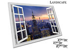 Window View welcome to the evening New York City Skyline Poster Print X2374