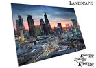 Sunset over the London City Financial district skyline Poster print X1493