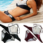 Women Lace Padded Push Up Bra Bikini Set Summer Swimwear Bath Fashion Beach Suit