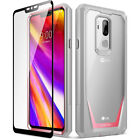 For LG G7 ThinQ Rugged Bumper Case Poetic Guardian [With Tempered Glass] 4 Color