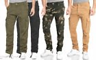 Finchman F1001E Herren Cargo Hose Lang Trousers Pant Freizeithose Tapered Fit