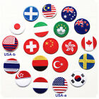 Round National Flag Patch Emblem Embroidered Sew Iron on Badge Applique 4.5cm