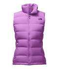 Women's North Face Purple Nuptse 2 700 Down Vest Jacket New