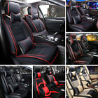 seat cover leather - Deluxe Universal 5 Seats Car PU Leather Front Rear Cover Cushion Mat + Pillows