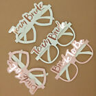 10x/Set Team Bride Glasses White Pink Hen Night Party Photo Props Accessories