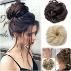 Hot Real Natural Curly Messy Bun Hair Piece Scrunchie New Fake Hair Extensions