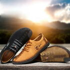 Fashion Mens Synthetic Leather Lace Up Shoes Handwork Thin Shoes Breathable