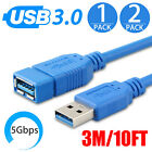 3/10 Feet SuperSpeed USB 3.0 Type A Male to Female Extension Cable Plug and Play