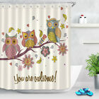 You're Awesome Cute Owl Family Shower Curtain Bathroom Waterproof Fabric 72Inch
