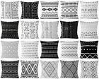 Black & White Throw PILLOW COVER Sofa Bed African Decorative Cushion Case 18x18""