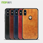 For XiaoMi Mi 8, Mofi Business Hybird Leather Soft Frame Hard Back Case Cover