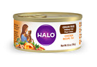Halo Grain Free Indoor Cat Chicken Pate Canned Cat Food