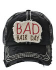 Distressed Embroidered Bad Hair Day Baseball Hat Country Western Vintage Style