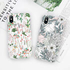 Cute Plant Floral leaves Pattern Hard Back Case Cover For iPhone 8 X 6s 7 Plus