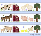 Внешний вид - Barnyard Farm Animal Wallpaper Border Wall Art Decals Baby Nursery Kids Stickers