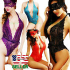 Women Bodysuit Lace Bandage Lingerie Rompers Tops Jumpsuit Playsuit Sleepwear