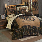 3D Deer Head & Camo Bedding Set Browning 3D Buckmark Comforter Shams Skirt