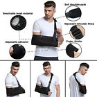 Breathable Arm Sling Shoulder Immobilizer Bracing High Pouch Support Strap Black