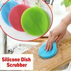 Round Silicone Dish Scrubber Bowl Pot Pan Wash Cleaning Brush Scouring Pad