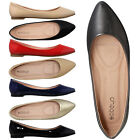Women's Ballet Flats Faux Patent Leather Pointed Toe   RUN 1/2 SIZE SMALL