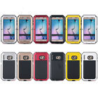 Pure Colors Aluminum Waterproof Shockproof Glass Metal Case Cover Case For S6