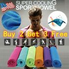 Outdoor Instant Ice Cooling Towel for Sports Workout Fitness Gym Yoga Pilates  image