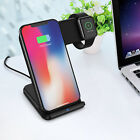 2in1 10W Qi Wireless Fast Charger Holder Stand for IphoneApple Watch iPhone8/7 X