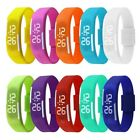 Touch Screen LED Digital Silicone Sport Wrist Watch Men Women Bracelet Watch image